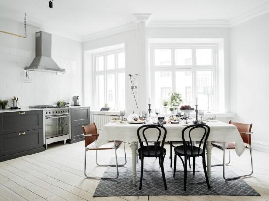 ultimas tendencias cocinas estilo nórdico electrodomésticos integrados decoración cocinas cocinas nórdicas cocinas grises modernas cocinas blancas pequeñas cocinas blancas modernas cocina de madera gris y encimera de mármol blog decoración nordica escandinava