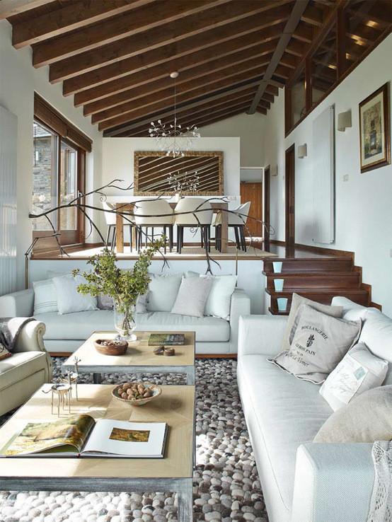 Estilo Rustico Renovado Para Una Casa En La Cerdanya Blog Tienda - Decoracion-de-interiores-rusticos