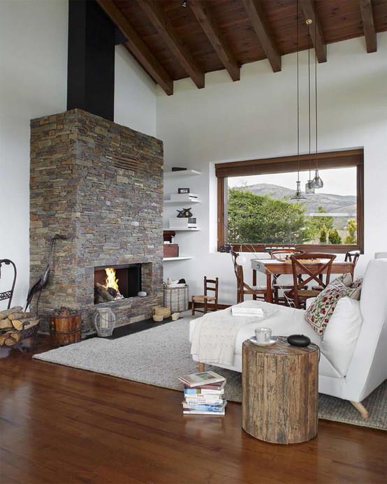 Estilo r stico renovado para una casa en la cerdanya - Casas rusticas decoracion ...