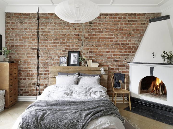 Chimenea en el dormitorio   blog decoración estilo nórdico ...
