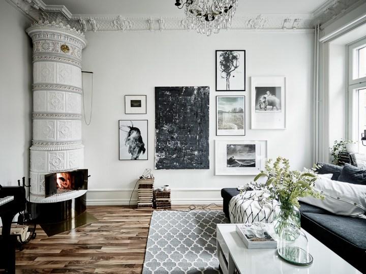 Blanco y negro sobrio y elegante blog decoraci n estilo for Decoracion piso jovenes