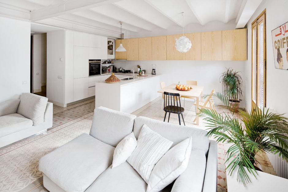 Tico d plex con gran terraza blog decoraci n estilo - Come arredare sala e salotto insieme ...