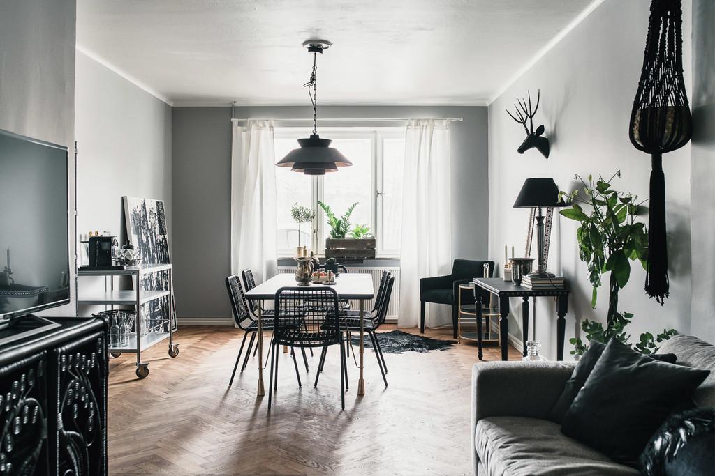 Estilo n rdico masculino en negro blog decoraci n estilo - Estilo nordico decoracion ...