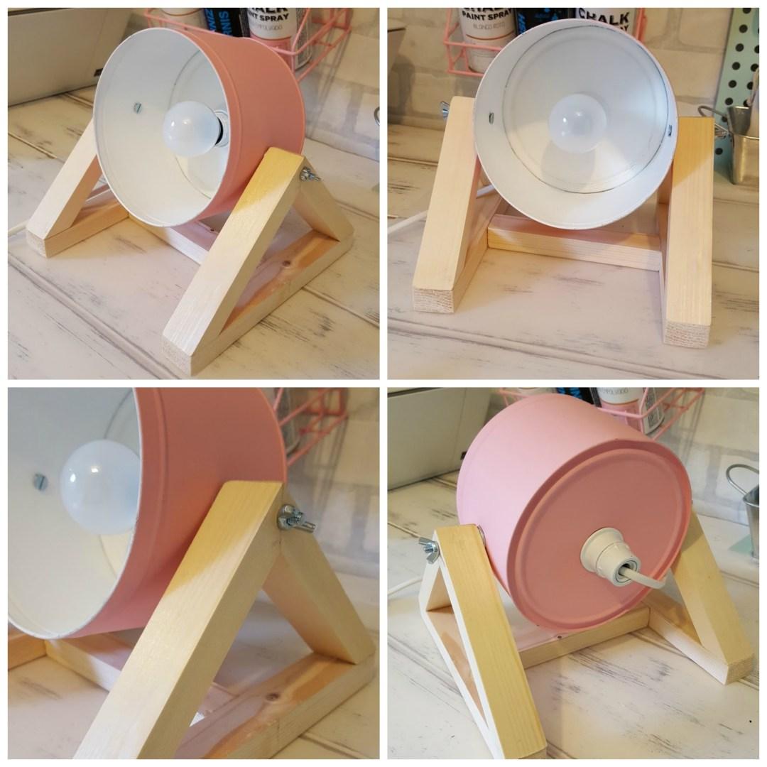 Diy l mpara de mesa con una caja de metal blog for Mesa de luz para dibujo
