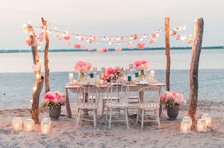 Id licas mesas y bodas en la playa blog decoraci n - Decoracion boda playa ...