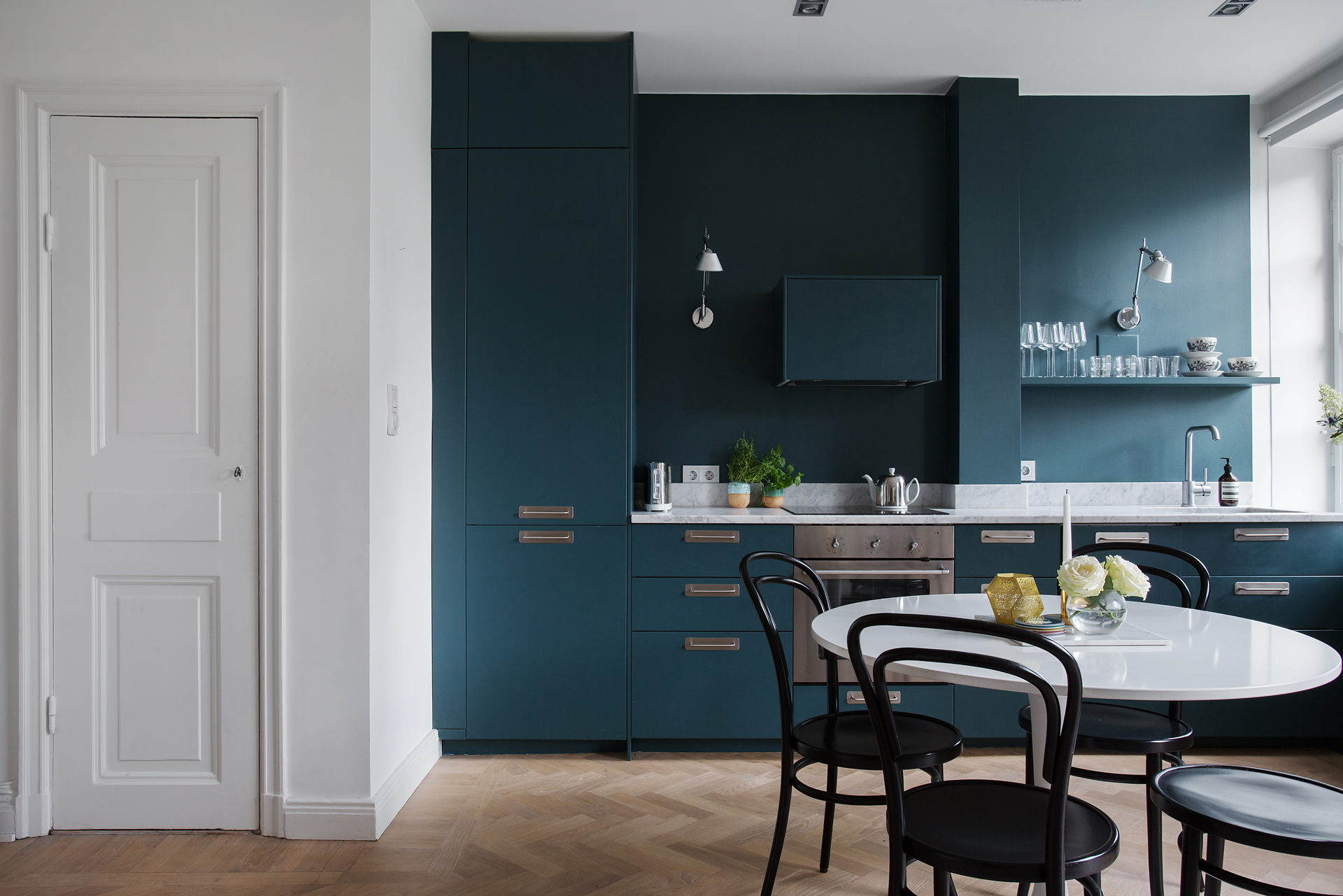 Bonito Cocina Pintura De Color Azul Oscuro Ornamento - Ideas de ...