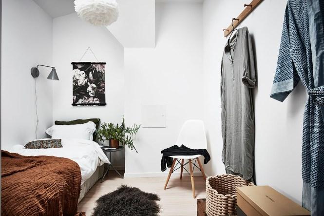 vivir en el centro Mini ático sueco de 24 m² con terraza diseño exterior diseño aticos decoración terrazas decoración pisos pequeños decoración aticos y lofts blog decoración nórdica atico sueco atico nórdico