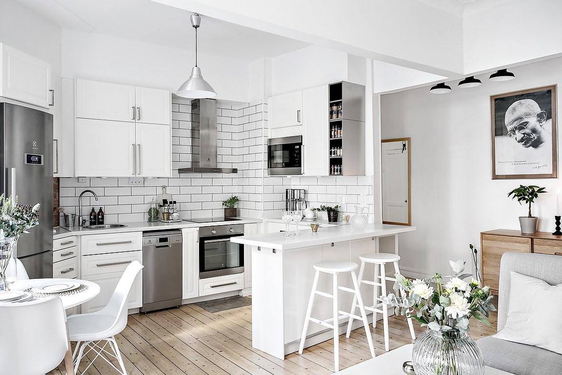 Cocina abierta en un piso peque o blog tienda decoraci n for Decoracion apartamentos modernos 2016