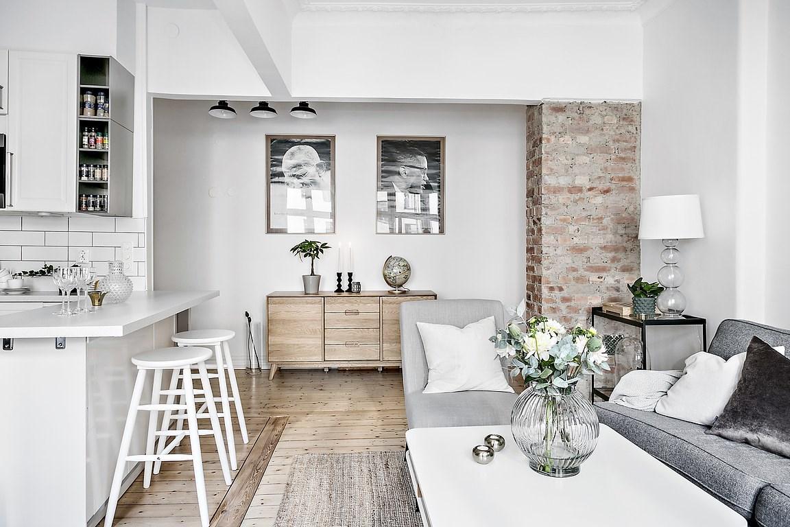 Cocina abierta en un piso peque o blog tienda decoraci n for Cocinas para apartaestudios