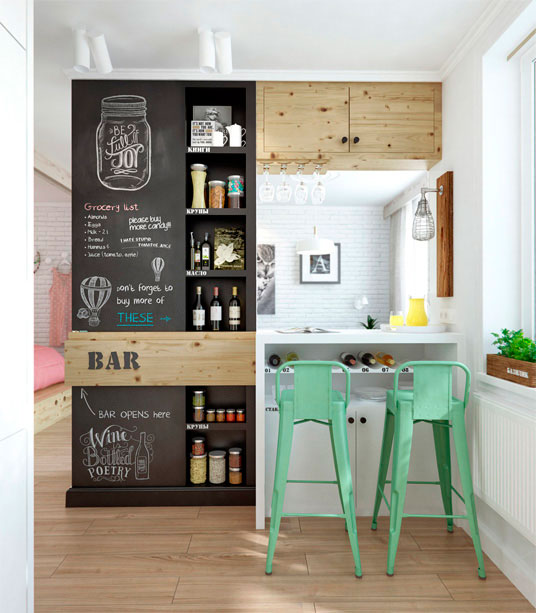 Una Pared De Pizarra En La Cocina Blog Tienda Decoracion Estilo - Pizarra-decoracion-pared