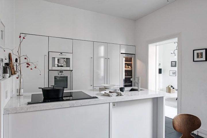 Muebles de cocina empotrados Gaggenau cocinas nórdicas cocinas modernas cocinas lujo cocinas empotradas cocinas blancas blog decoración nórdica