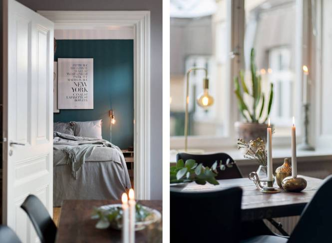 sofá azul pared azul muebles de colores muebles azules estilo escandinavo decoración interiores cocina azul blog decoración nórdica