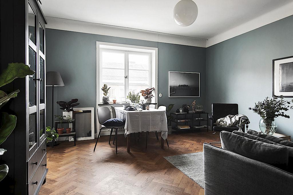 Piso n rdico de 44 m en gris oscuro blog tienda for Decoracion piso oscuro