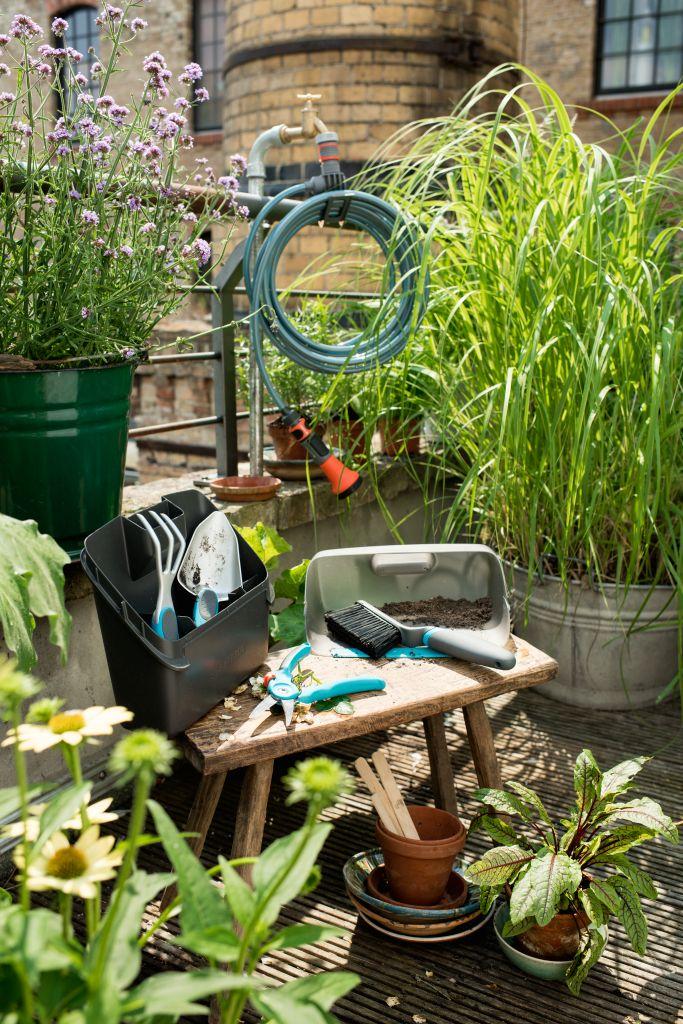 set balcn riego automtico plantas balcn jardineria urbana diseo exteriores decoracin exteriores city gardening