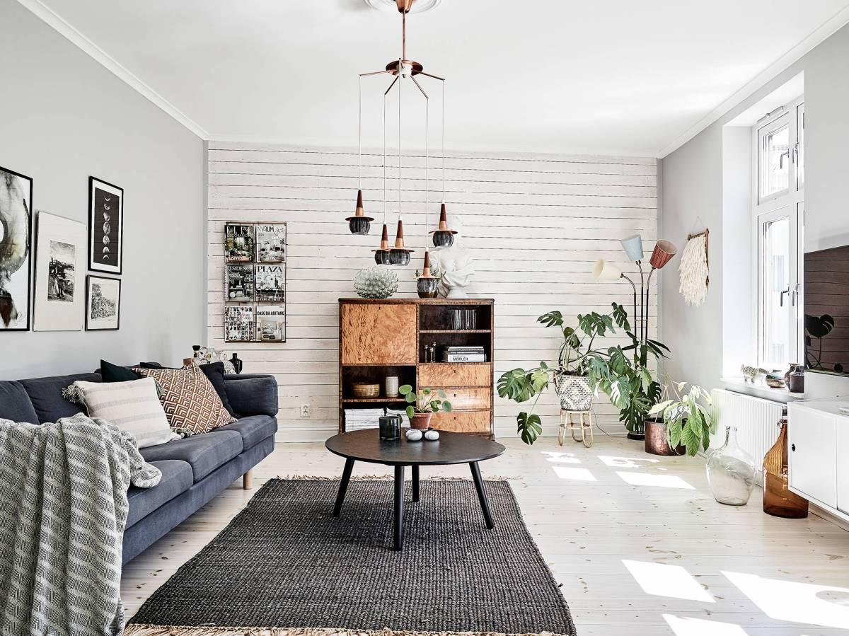 Paredes con paneles de madera blog tienda decoraci n - Piso estilo nordico ...