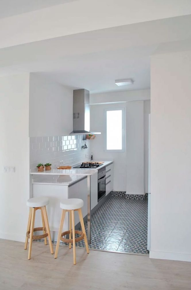 terrazas decoración reforma integral peninsula cocina estilo nórdico diseño interiores decoración interiores cocina abierta antes después decoración antes después atico valencia