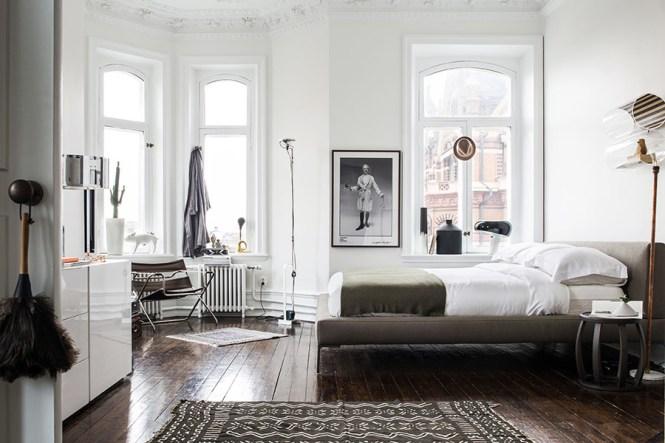 suelo de madera espiga piso del siglo XIX estilo nórdico escandinavo decoración sueca decoración nórdica decoración glamour decoración clásica