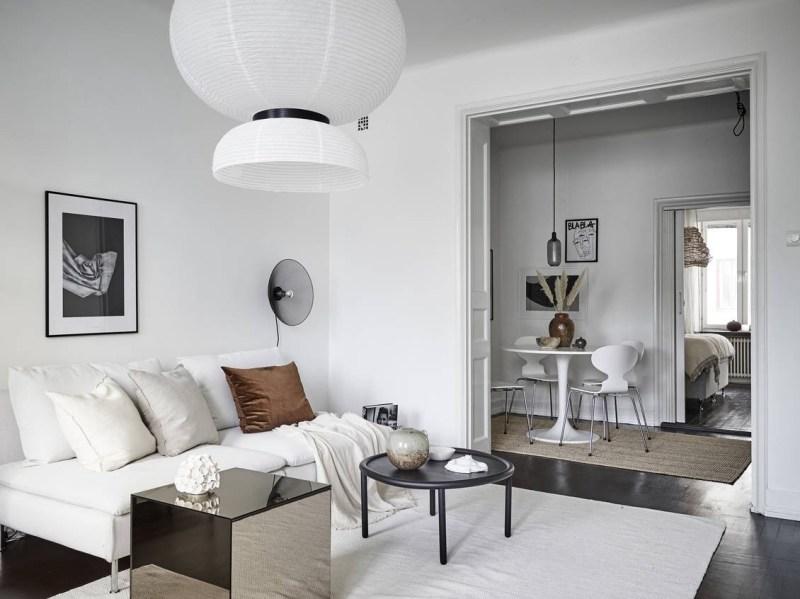 Pequeño piso sueco con el comedor en el pasillo - Blog tienda ...