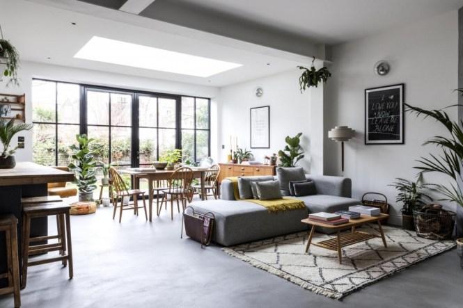 suelo de cemento distribución abierta diseño interiores antiguos cocina abierta casas antiguas casa inglesa casa de diseño