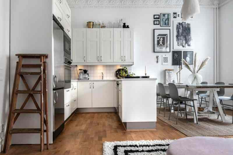 viviendas pequeñas estilo escandinavo distribución abierta decoración pisos pequeños decoración en blanco