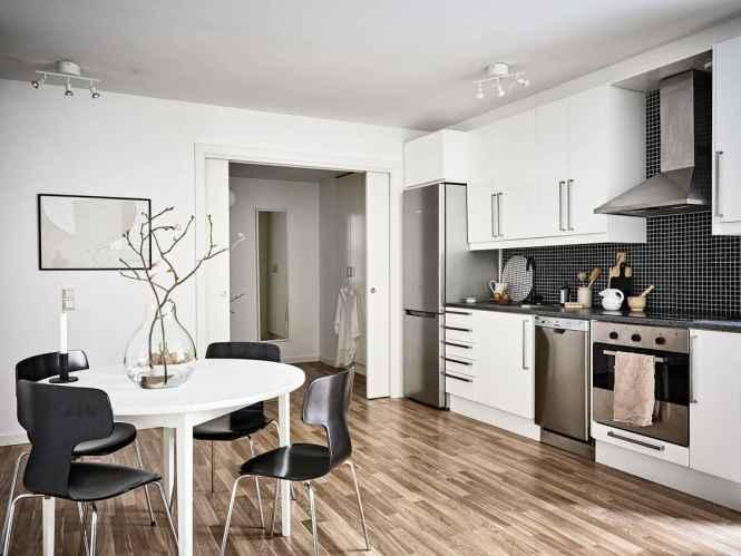 piso estudiantes decoración estilo escandinavo decoración pisos muy pequeños decoración ordenada limpia acogedora decoración estudio decoración en neutros y cremas cocina pequeña abierta