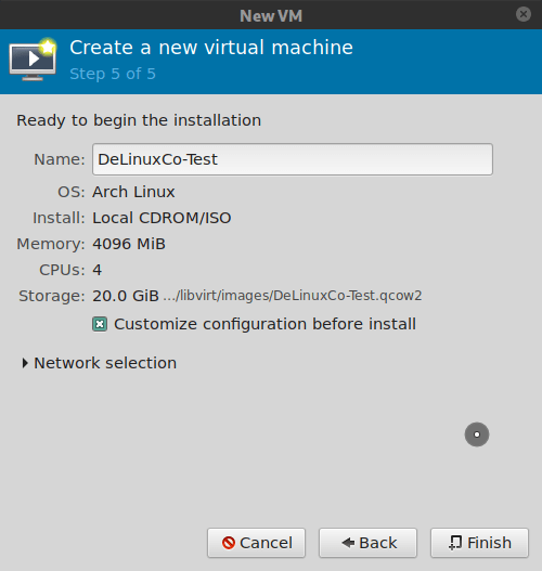 Virt-manager, name the VM