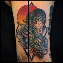 Spirited-Away-Traditional-American-Style-Tattoo-by-Phil-Hatchet-Yu-620x620