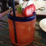 Strawberry and Basil Infused Margarita
