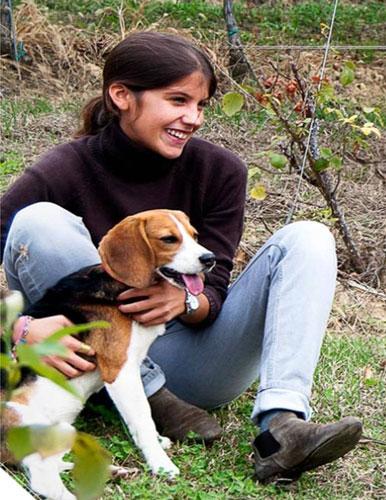 ジュリア・ネグリと愛犬