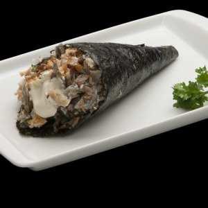 Temaki de Salmão Skin com Cream Cheese - Delivery Sushi Rão, o Maior do Brasil. O melhor da Comida Japonesa na sua casa!