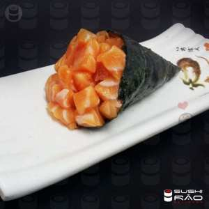 Temaki de Salmão sem Arroz - Delivery Sushi Rão, o Maior do Brasil. O melhor da Comida Japonesa na sua casa!