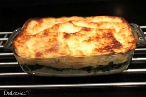 Lasagnes au poulet et aux épinards
