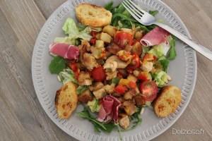 Salade de Poulet et Pomme de terre aux poivrons