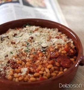 Gratin de haricots blancs au chorizo