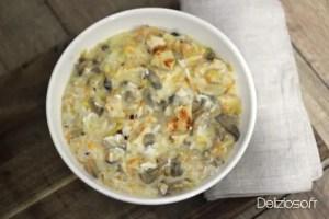 Riz et Poulet crémeux aux légumes – 480 kcal