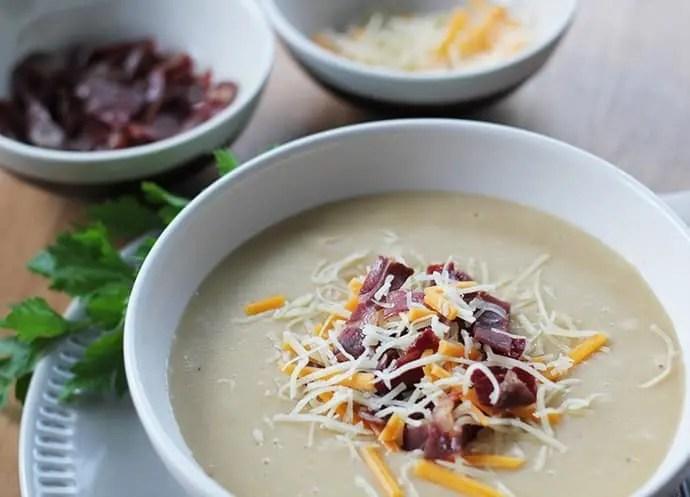 Soupe de pommes de terre crémeuse