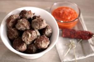 Boulettes de boeuf au chorizo et sauce tomate à l'ail