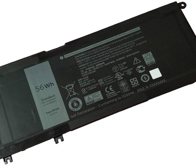 Battery For Dell 33ydh Laptop