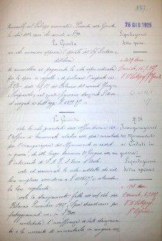 Verbale di Giunta n. 76/1925