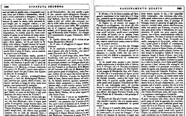 Ragionamento Tra Giorgio Vasari E Il Principe Francesco De' Medici Sull'Assedio Di Empoli 1530