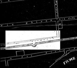 via-della-Fogna-e-via-dei-Purganti...-piantina-dEmpoli-dell800-dagli-archivi-di-Giuliano-Lastraioli