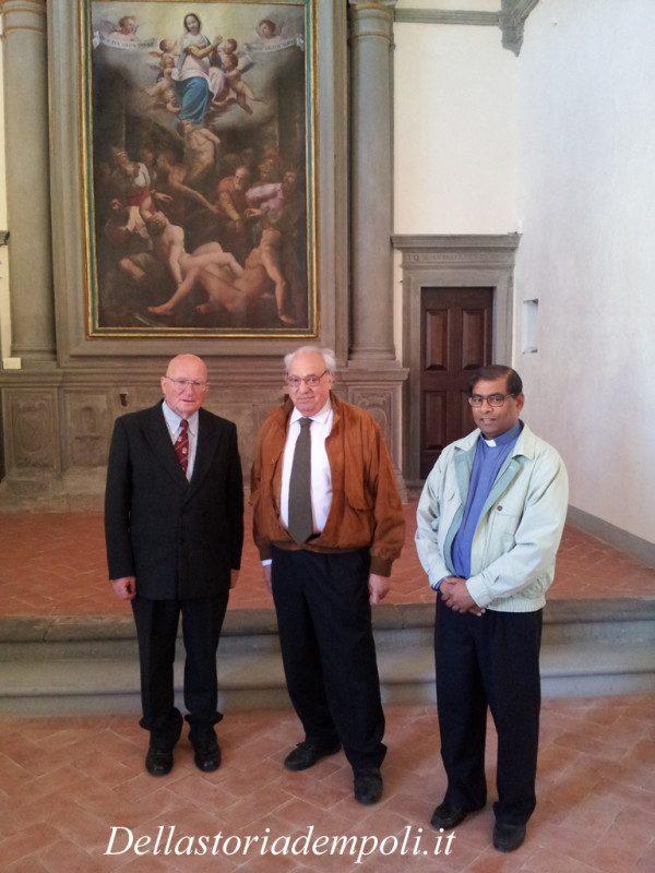Da Sinistra Mario Sladojevich, Fondazione Carismi, Alberto Michelucci, Direttore Della Parrocchia Di Santa Maria A Ripa E Padre Donato, Parroco Della Chiesa.