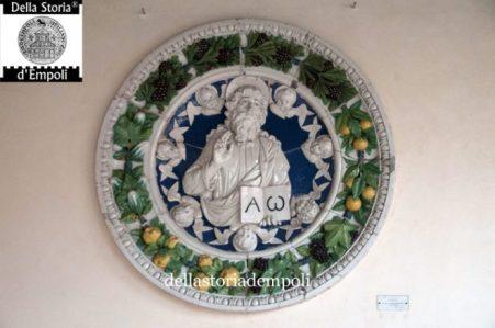 Eterno Padre benedicente in gloria d'angeli - Andrea della Robbia