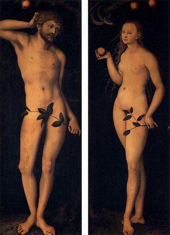 Cranach, Adamo ed eva: presso gli Uffizi