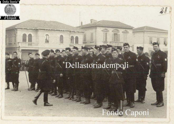Empoli - Camicie nere in Piazza XXVIII Ottobre oggi Piazza Gramsci