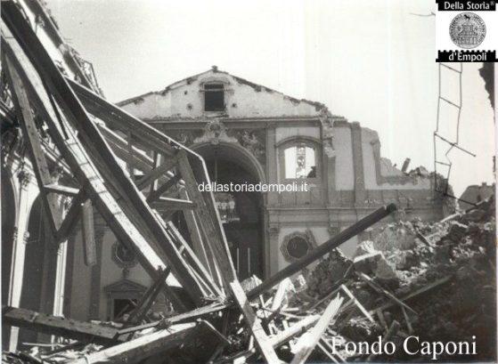 Collegiata: navata centrale danneggiata dal crollo del campanile