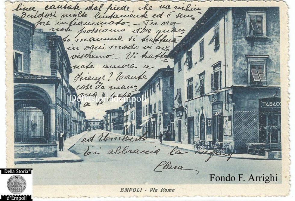 Empoli – Via Roma incrocio Piazza della Vittoria viaggiata 1937