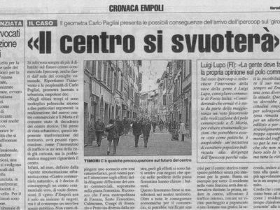 Il Centro Storico Si Svuoterà. Tirreno Di Empoli, 02 Novembre 2004