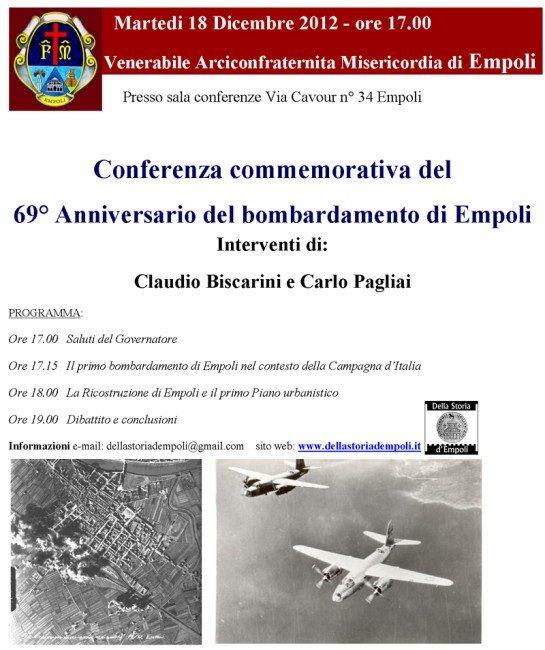 Conferenza Commemorativa Del 69° Anniversario Del Bombardamento Di Empoli