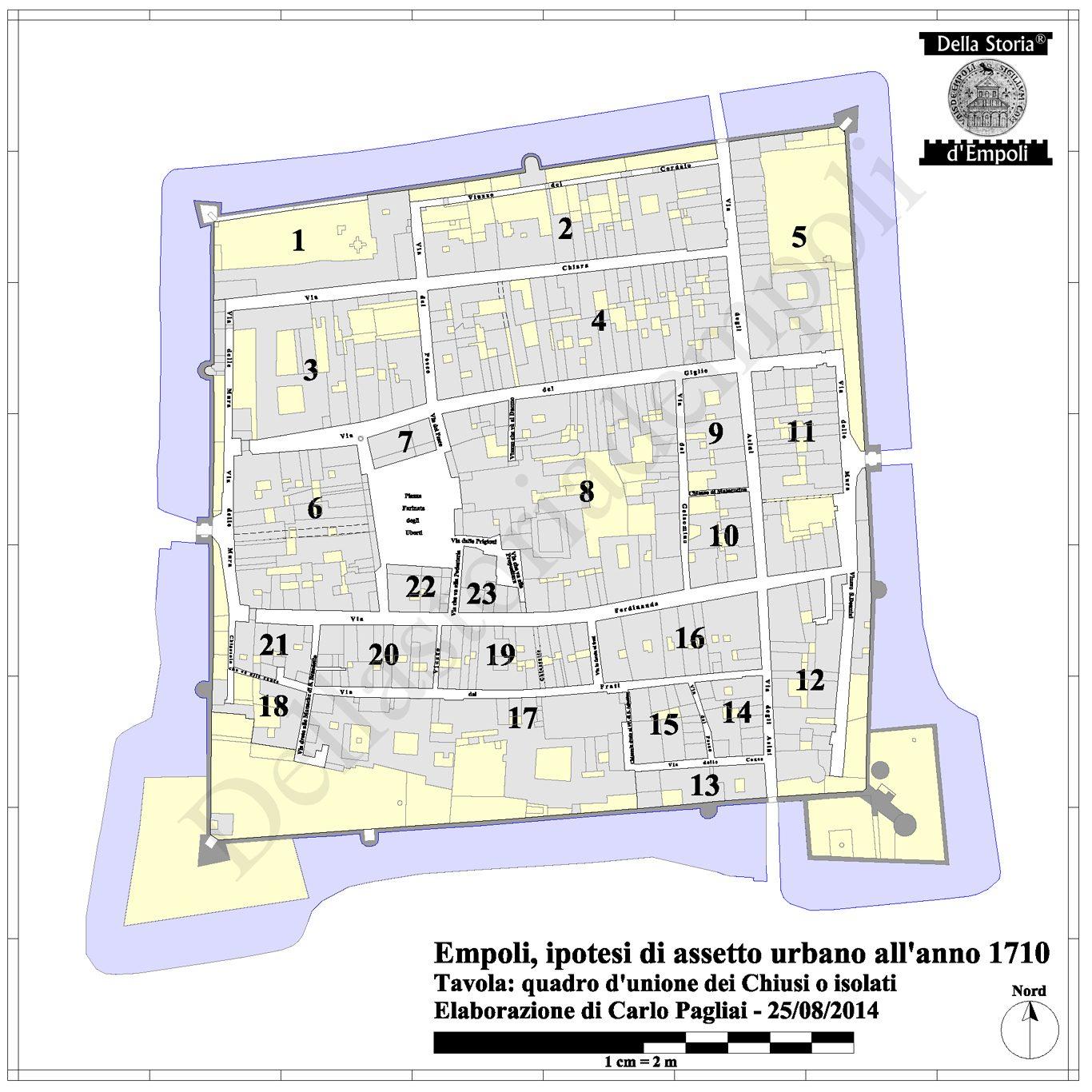 Empoli 1710: Tavola Del Probabile Assetto Urbano – Di C. Pagliai